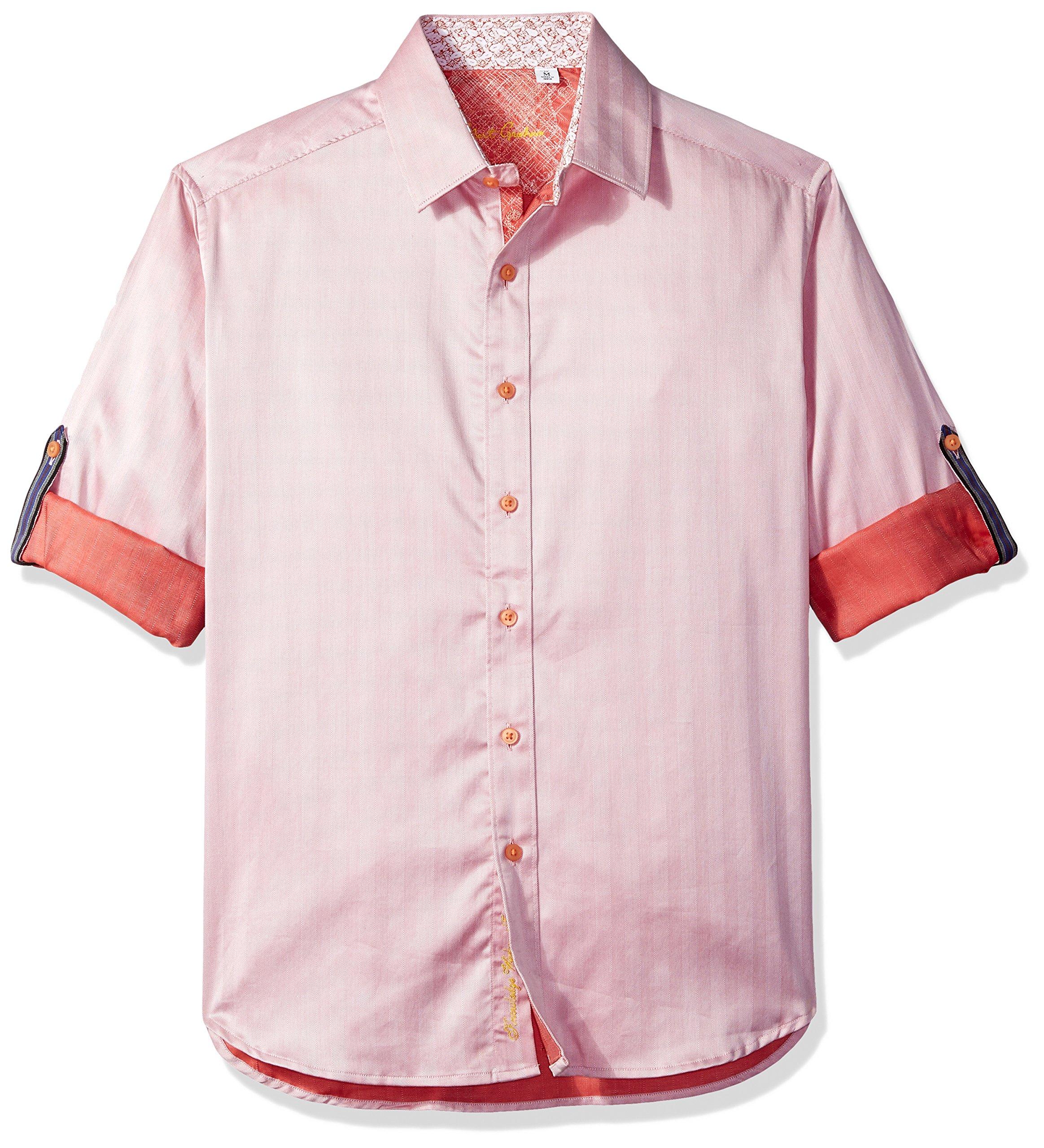 Robert Graham Men's Canton Classic Fit Sport Shirt, Salmon XLarge