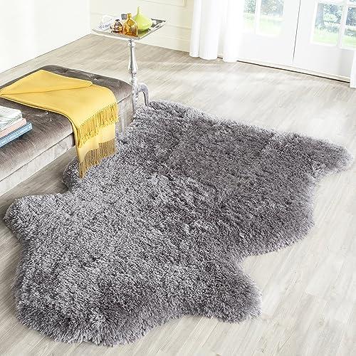 Safavieh Arctic Shag Collection SG270G Handmade Grey Polyester Area Rug 3 x 5