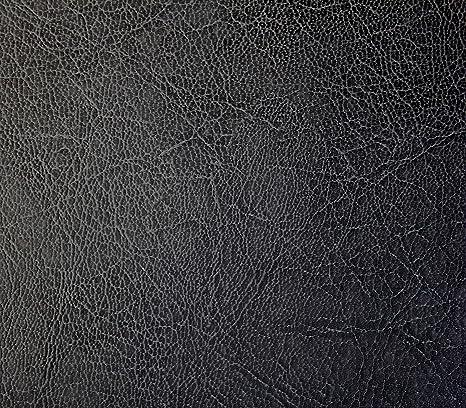 Bycast65 Black Matte Antique Top-Grain Weathered Faux Leather Marine Vinyl Fabric 5ft x 54