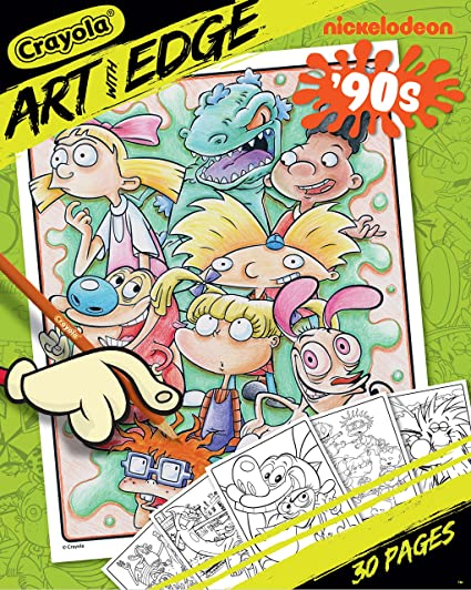 Amazon.com: Crayola Art With Edge Coloring Pages Nickelodeon Toy: Toys &  Games