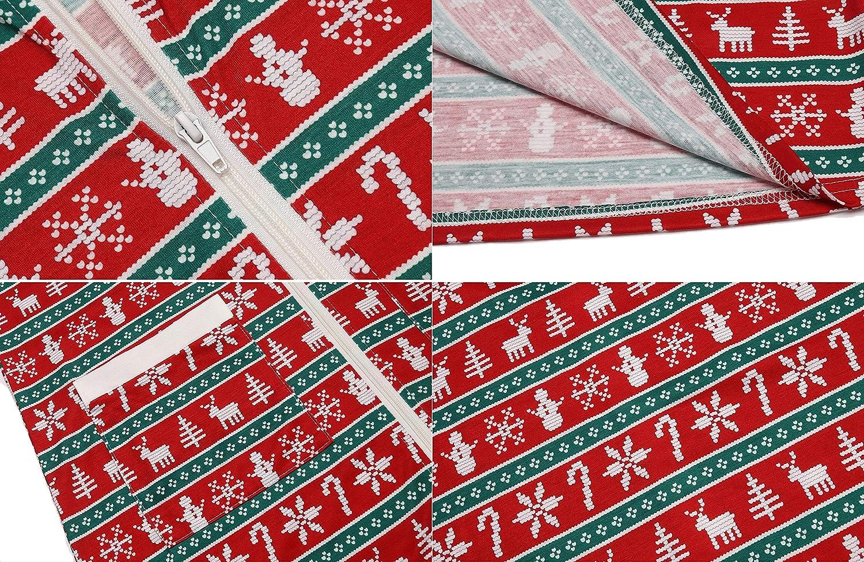 INZOE Weihnachtsnachthemd Damen Morgenmantel Lang Nachthemd Weihnachten Negligee Langarm Negligee Umstandsmode Nachtkleid Winter Schlafkleid f/ür Frauen S