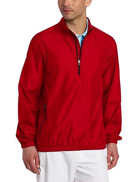25f8bc1f2a3bc adidas Golf Men's Climaproof Wind 1/2 Zip Jacket