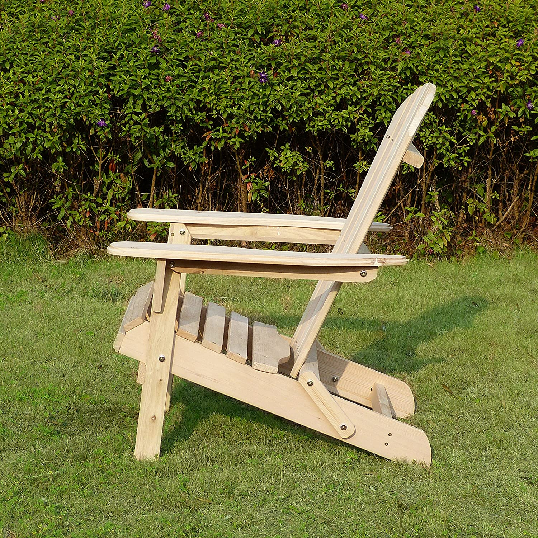 Amazon Merry Garden Foldable Adirondack Chair Wooden