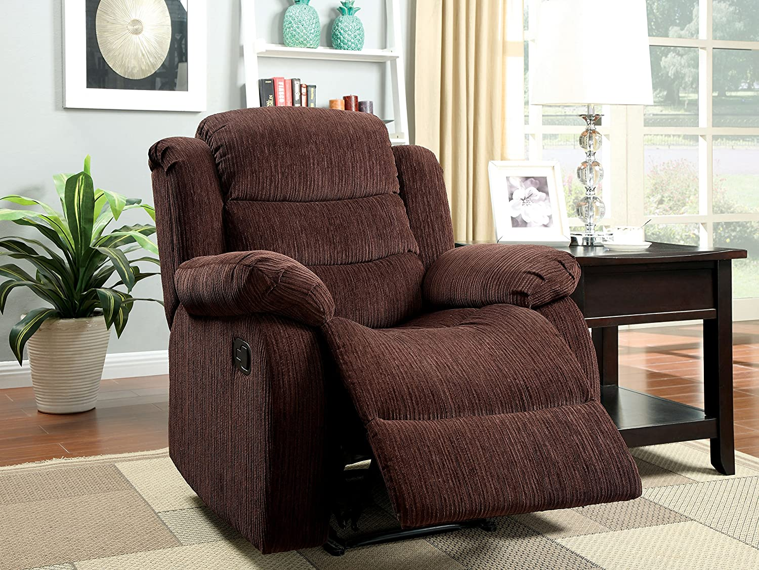 Amazon.com HOMES Inside + Out ioHOMES Blake Chenille Recliner Chair Gray Kitchen u0026 Dining & Amazon.com: HOMES: Inside + Out ioHOMES Blake Chenille Recliner ... islam-shia.org