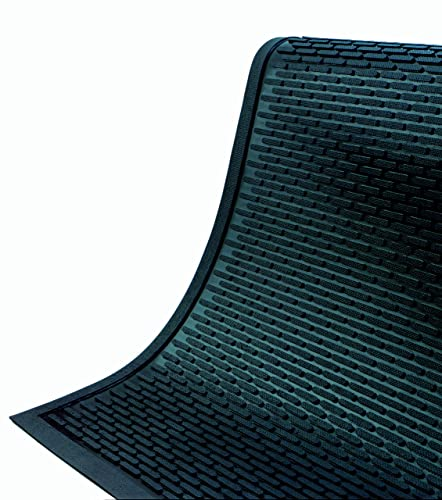 Andersen 555 Black Nitrile Rubber SuperScrape Entrance Mat, 3 Length x 2.5 Width, For Indoor Outdoor
