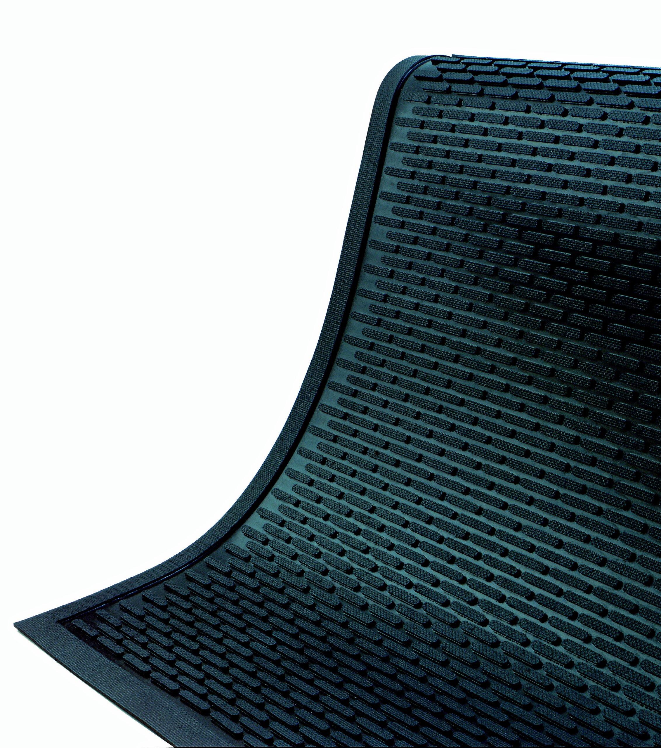 SuperScrape Durable Outdoor Rubber Scraper Mat 6' Length x 6' Width by M+A Matting