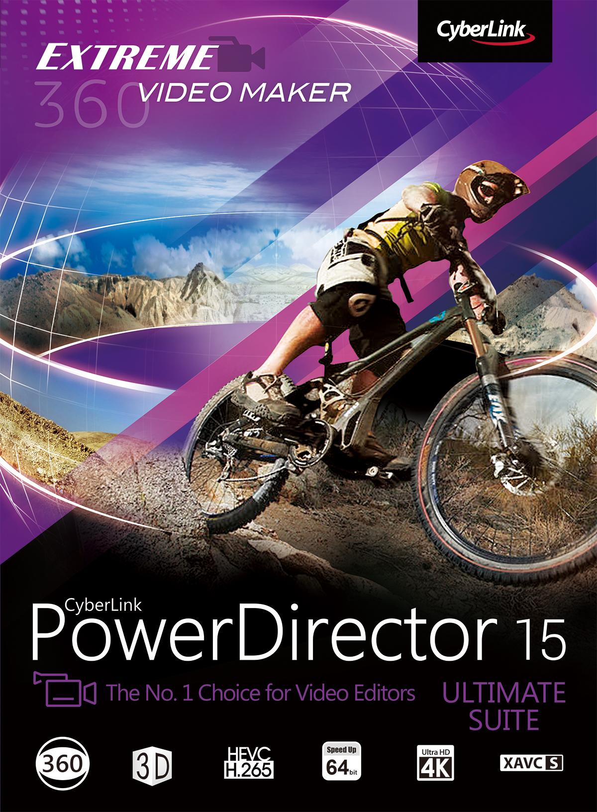CyberLink PowerDirector 15 Ultimate Suite [Download] by Cyberlink