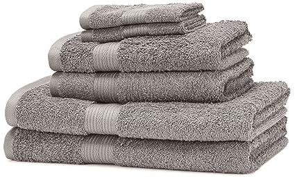 AmazonBasics - Set di 2 asciugamani da bagno,2 asciugamani per le ...