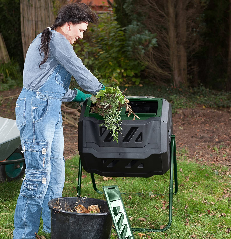 Amazon.com: Exaco Mr. Spin - Vaso de compost estacionario de ...