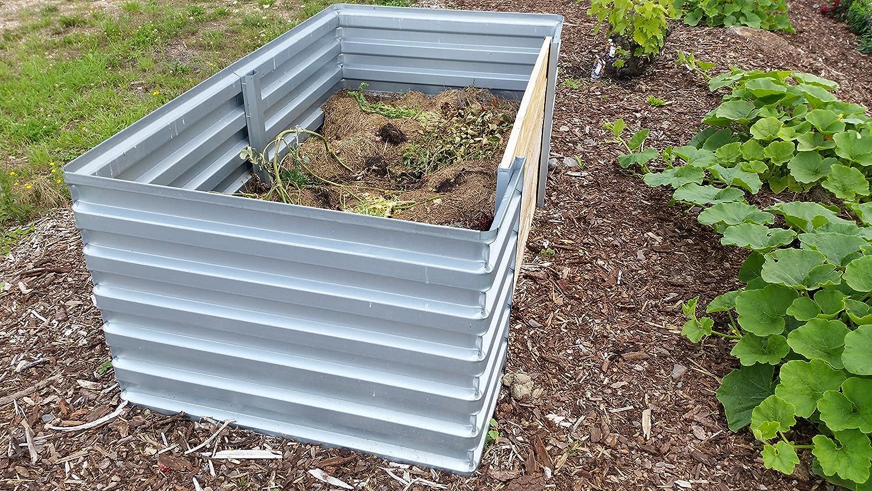 Steckkomposter Composter Metallkomposte Komposter 100x120x120 cm verzinkt HOME
