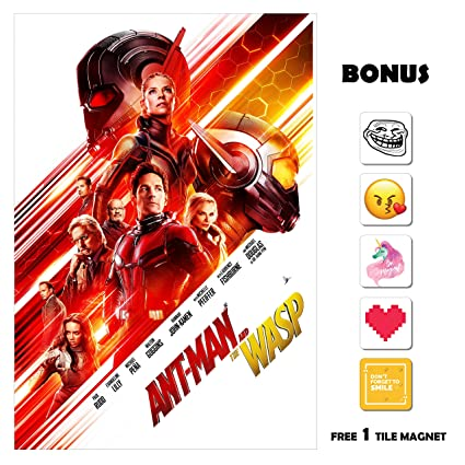 Amazon Com Ant Man And The Wasp Movie Poster 13 In X 19 In Poster