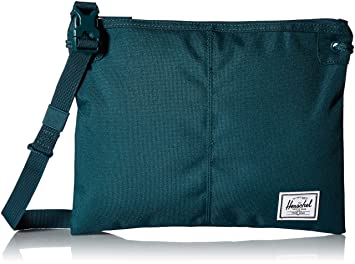 29893d3aed61 Image Unavailable. Image not available for. Color  Herschel Alder Cross  Body Bag Deep Teal ...