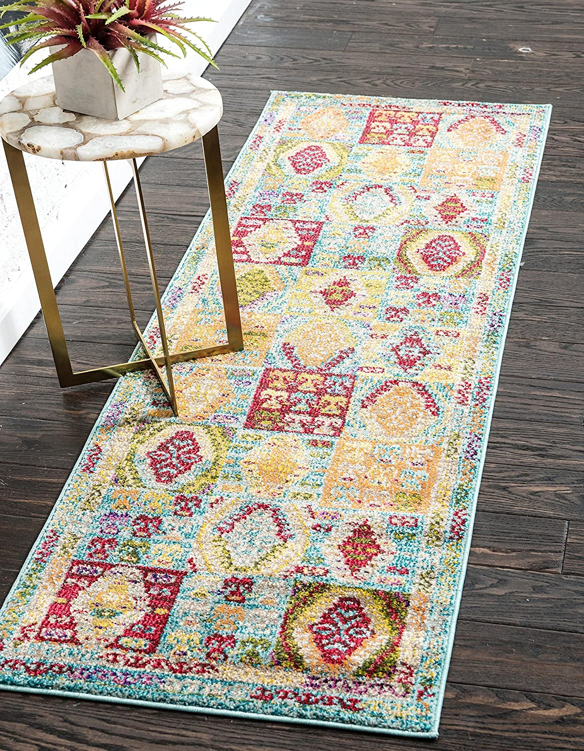 Unique Loom Sedona Collection Southwestern Multi Geometric Light Blue Area Rug (2' x 3') 3137698