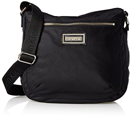 Amazon.com  Calvin Klein Belfast Nylon Top Zip Messenger Crossbody ... 089a34fe2e