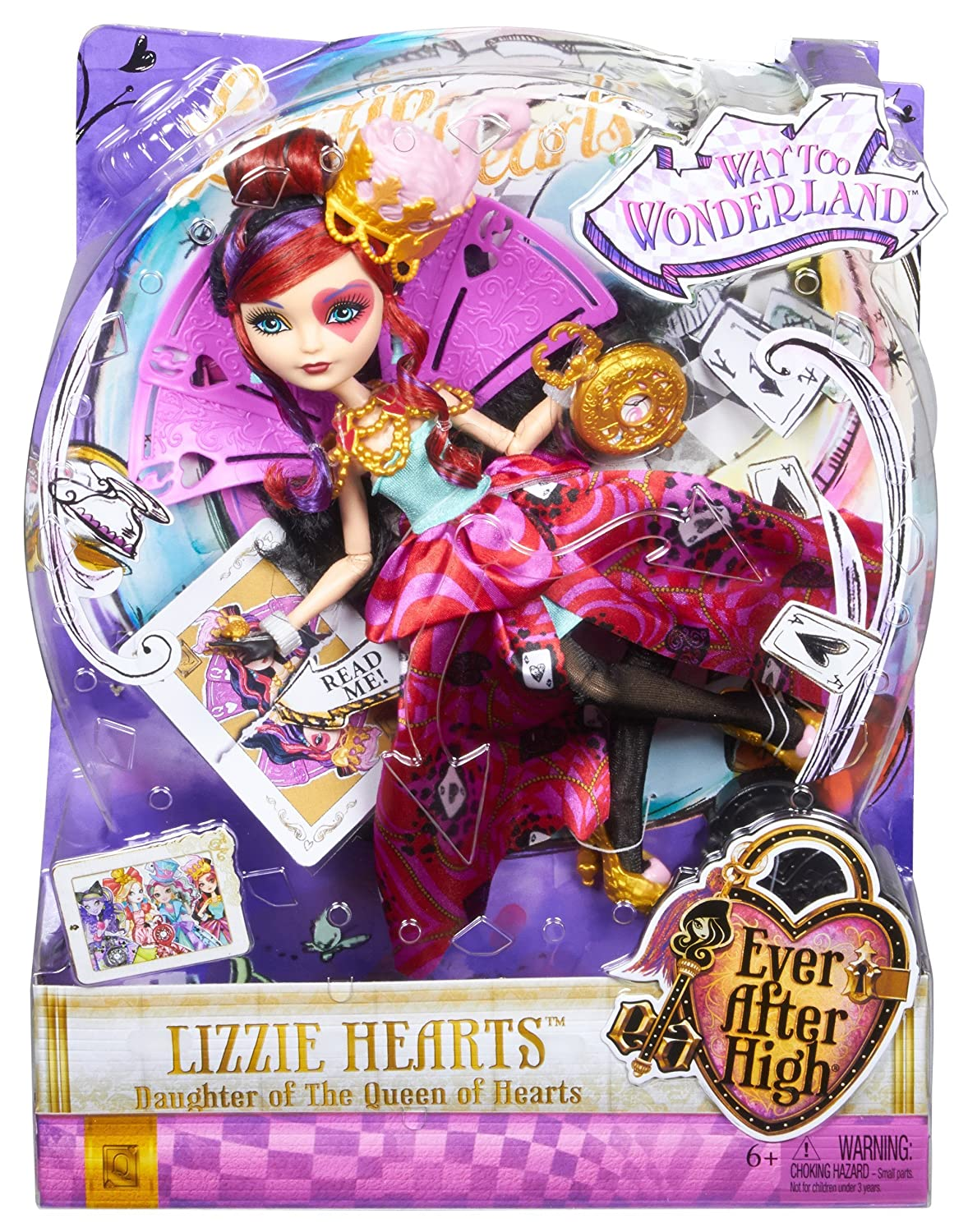 amazon com ever after high way too wonderland lizzie hearts doll