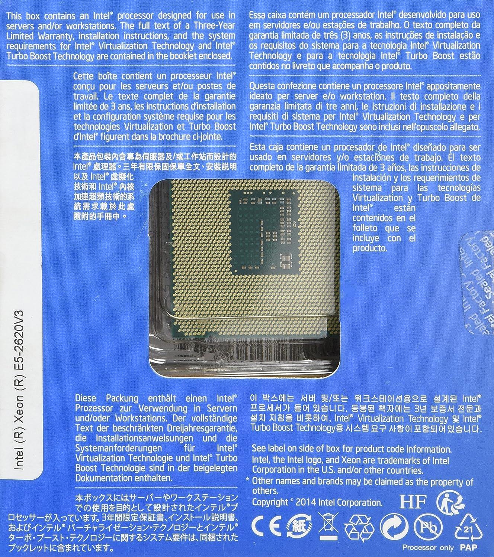 Intel Xeon E5-2620 v3 - Procesador (Intel Xeon E5 v3, 2,4 GHz, LGA 2011-v3, 768 GB, DDR4-SDRAM, 1600, 1866 MHz): Amazon.es: Informática