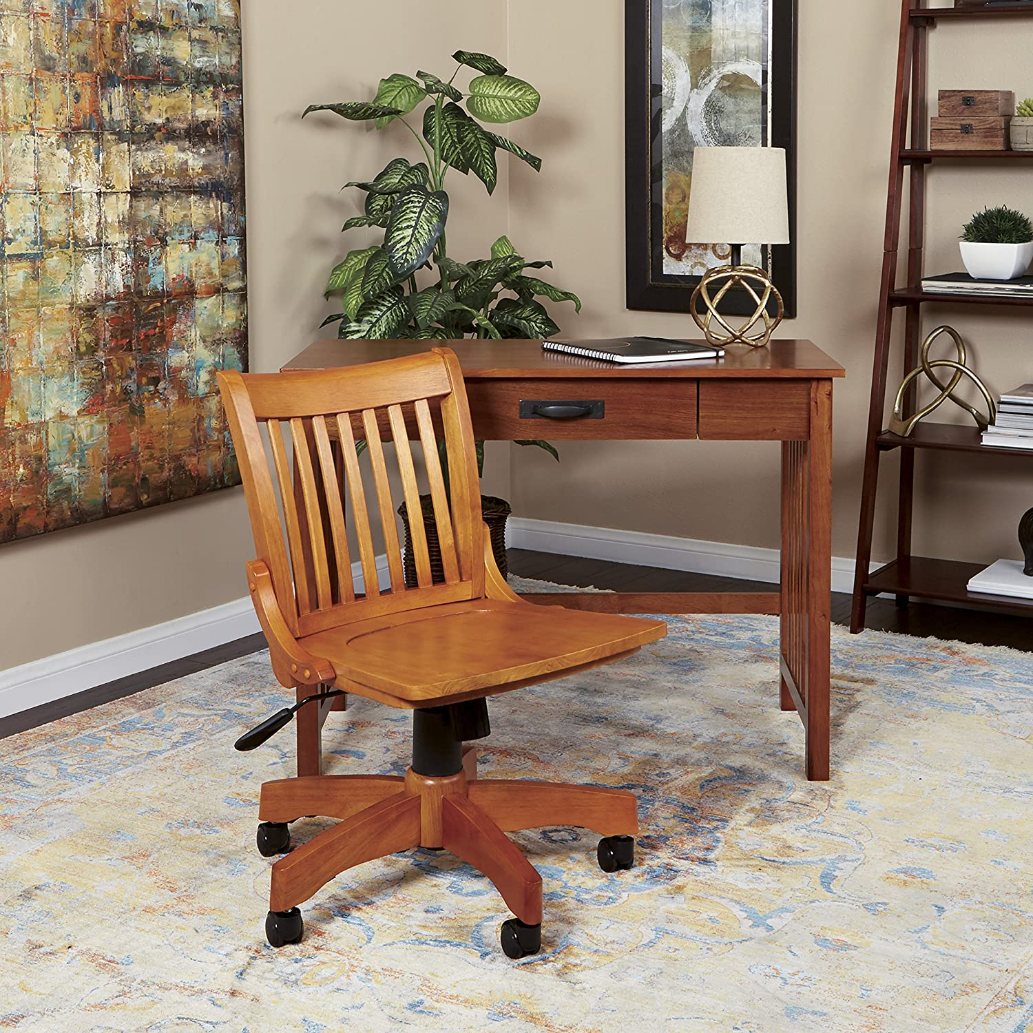 Amazon fice Star Deluxe Armless Wood Bankers Desk Chair with