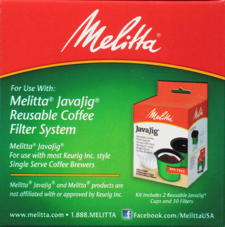 Melitta Java Jig Single Serve Paper Coffee Filters 60 Count