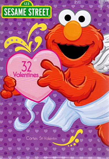 Amazoncom Sesame Street Elmo Valentine Cards  Pkg of 32 00856