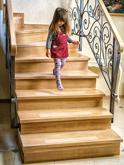Bon Kenley Non Slip Stair Treads U2013 10 Pack Clear Step Strips 4u0026quot;x24u0026quot;