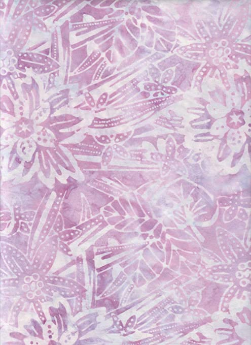 100/% Cotton quilting craft Fabric green pink lilac Floral Design Bali Batik B4