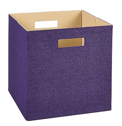 Superbe ClosetMaid 7109 Decorative Fabric Storage Bin, Purple