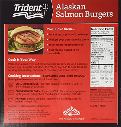 Trident alaskan salmon burgers 112 oz frozen amazon trident alaskan salmon burgers 112 oz frozen amazon grocery gourmet food ccuart Gallery