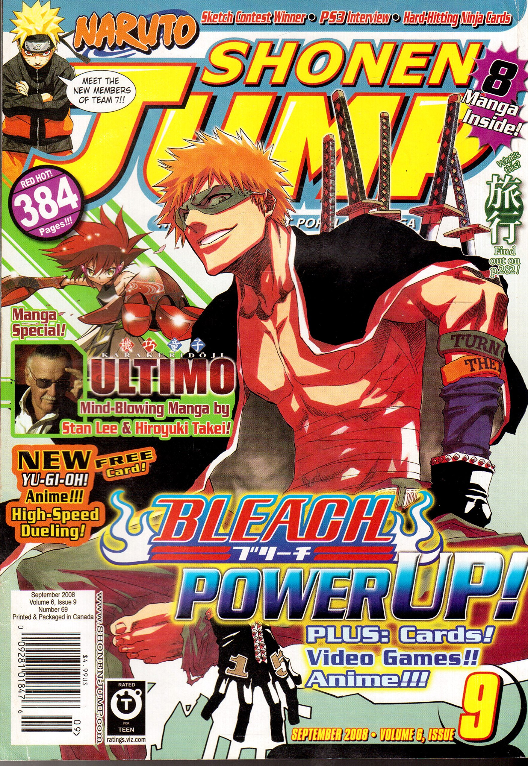 Shonen Jump Magazine September 2008 (Vol. 6, Issue 9, No. 69) pdf epub
