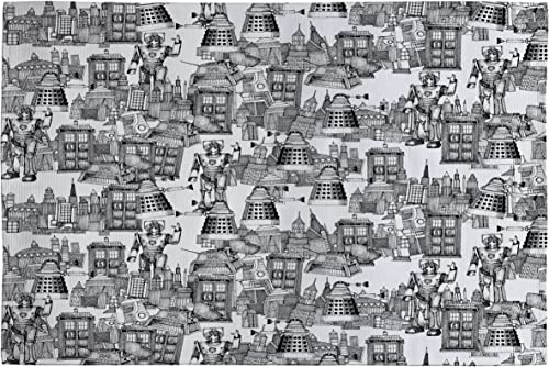 Deny Designs Sharon Turner Walking Doodle Toile De Jouy Woven Rug, 4 by 6-Feet