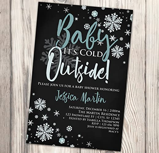 amazon com baby it s cold outside baby shower invitation winter