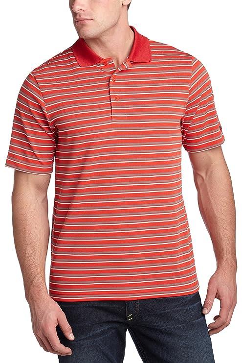 Reebok - Camiseta de los Hombres Play Dry Polo de Rayas, Hombre ...