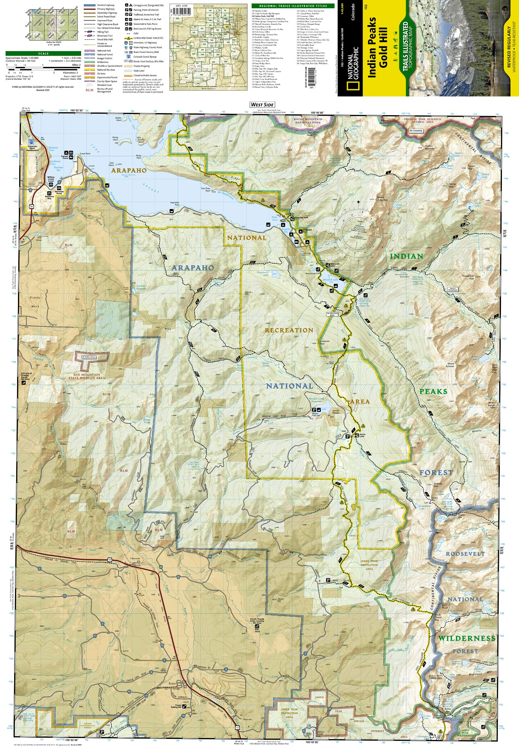 Indian Peaks, Gold Hill (National Geographic Trails Illustrated Map ...