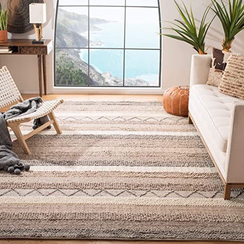 Safavieh Natura Collection Handmade Wool Area Rug, 4 x 6 , Beige