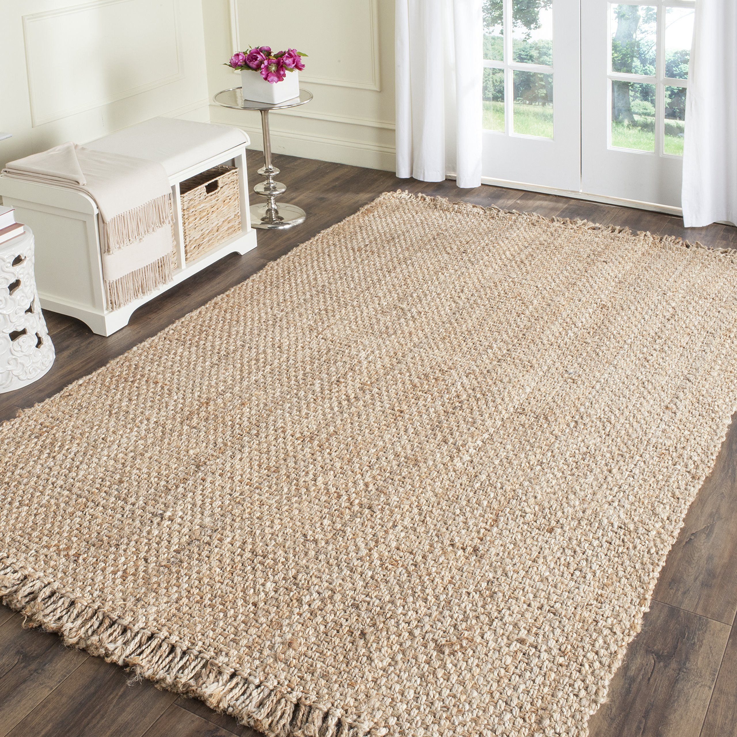 Safavieh Natural Fiber Collection NF467A Hand Woven Natural Jute Area Rug (5' x 8')