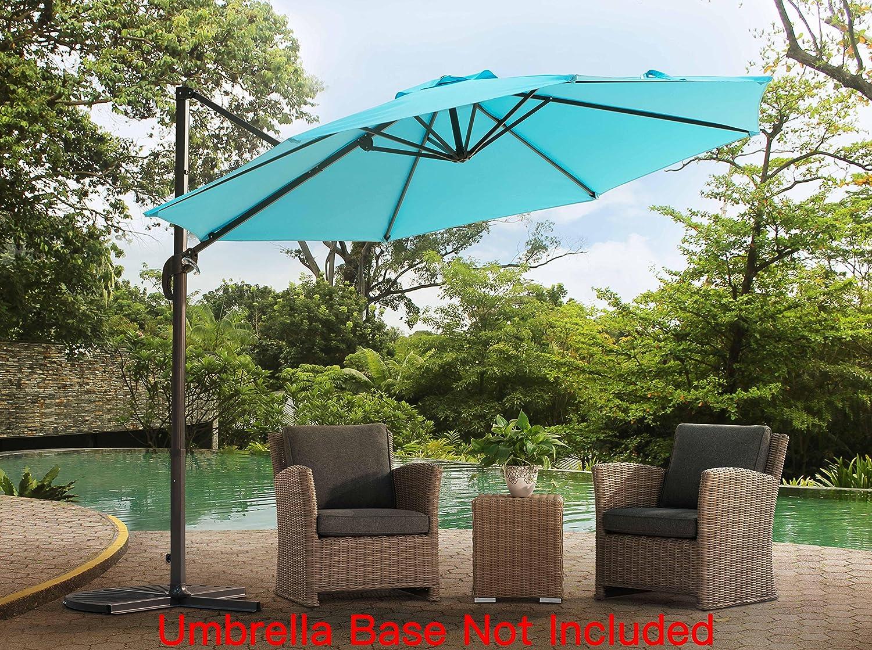 Sunjoy Patio Hanging Umbrella Off Set Outdoor Parasol