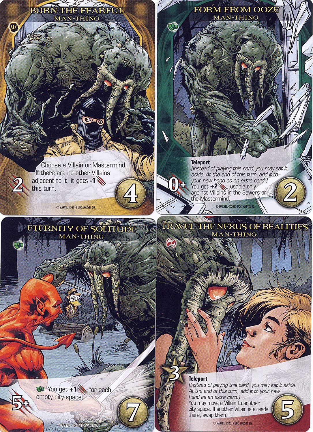 MAN-THING 2015 Upper Deck Marvel 3D LEGENDARY FORM FROM OOZE