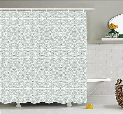 Ambesonne Vintage Shower Curtain Classical Art Nouveau Style Floral Pattern With Renaissance Inspirations Cloth