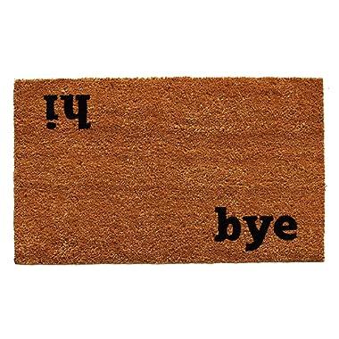 Calloway Mills 100501729 Hi Bye Doormat, 17  x 29 , Natural/Black