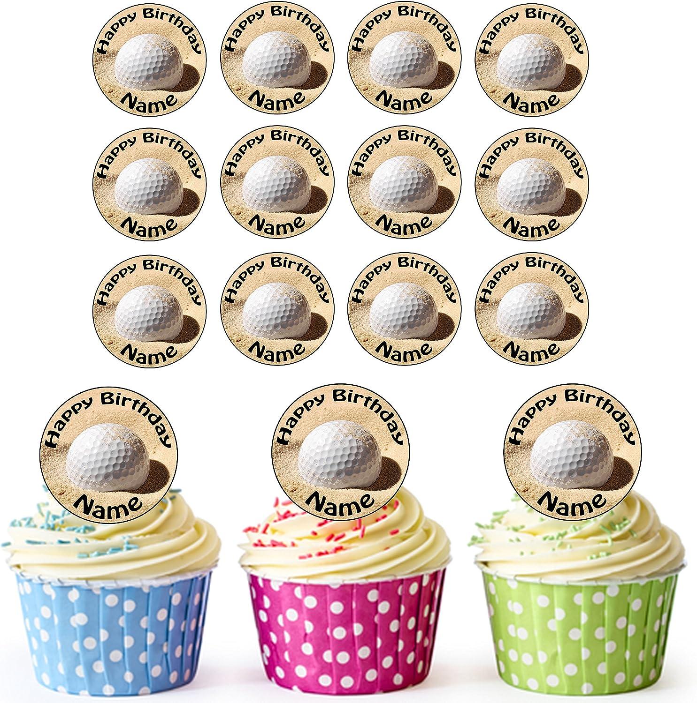 24 adornos comestibles personalizables para cupcakes y tartas de ...