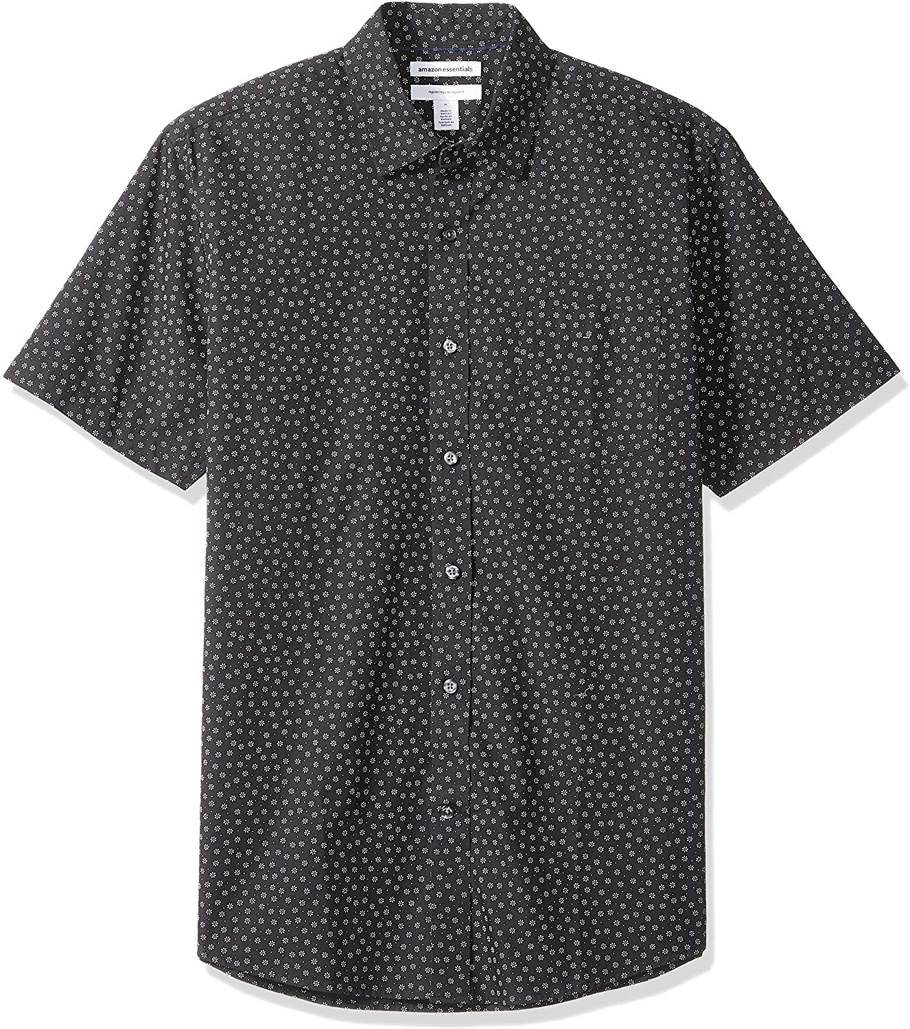 Essentials Men's Regular-fit Short-Sleeve Print Shirt: Clothing