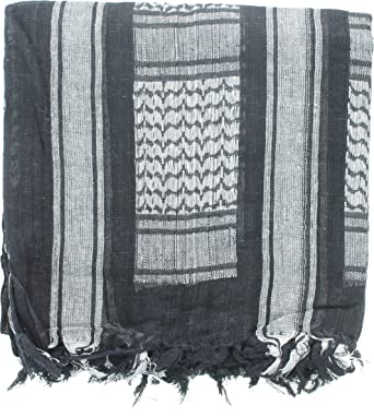 Black   Silver Military Shemagh Arab Tactical Desert Keffiyeh Scarf   Amazon.in  Clothing   Accessories 44556274c4