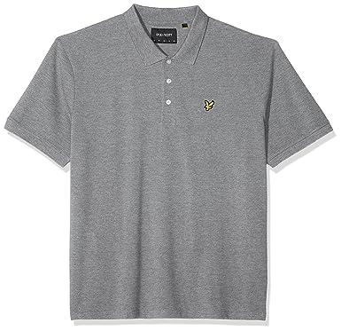 Lyle & Scott Plus Size Plus Size Plain Polo Shirt Hombre: Amazon ...
