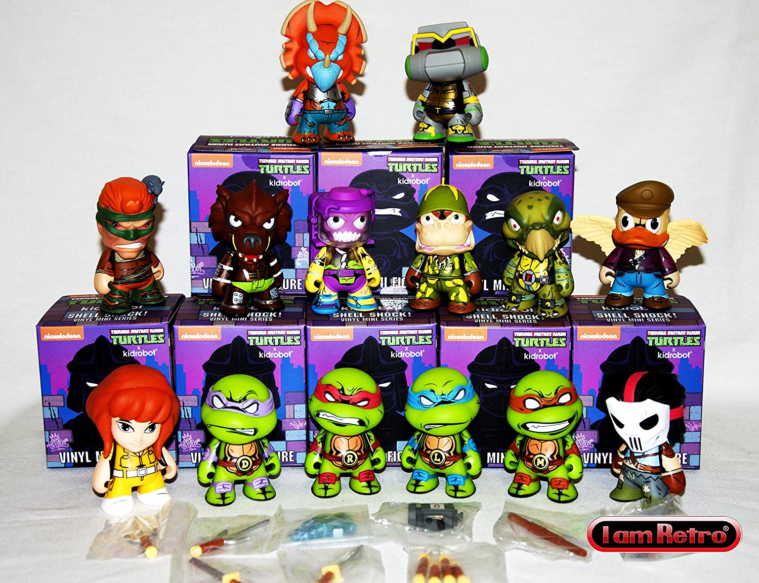 Amazon.com: TMNT Ninja Turtles Full Set of 14 Figures Shell ...