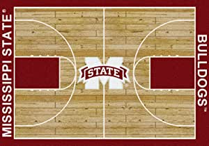"American Floor Mats Mississippi State Bulldogs NCAA College Home Court Team Area Rug 3'10""x5'4"""