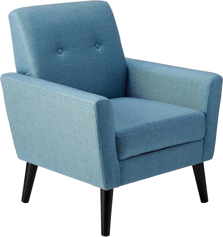 Christopher Knight Home Sienna Mid-Century Modern Fabric Club Chair, Blue