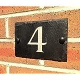 Slateworks Ardoise numéro de rue ou nom de maison 15 x 10 cm