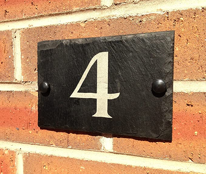 Placa de pizarra para número de casa, 10x15cm: Amazon.es: Bricolaje y herramientas