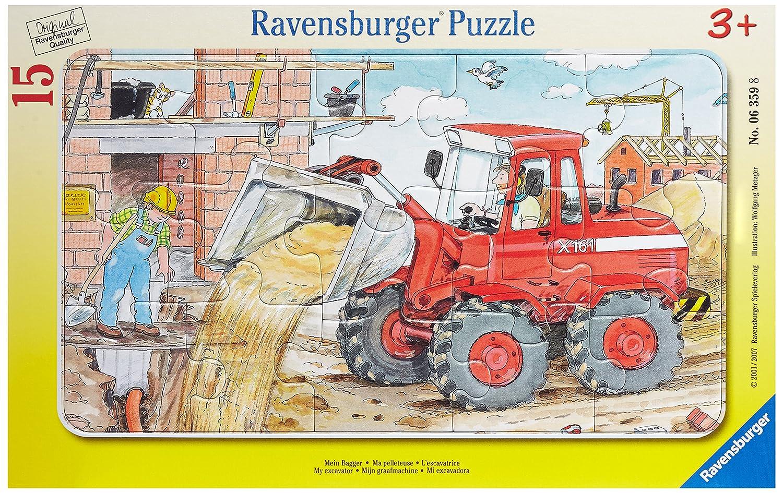 Ravensburger 06359 - Mein Bagger Ravensburger Spielverlag 63598 Cartoons & Kinderpuzzles