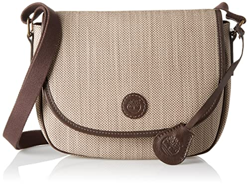 Borsa donna tracolla in pelle Timberland New Rain A23YH Beige