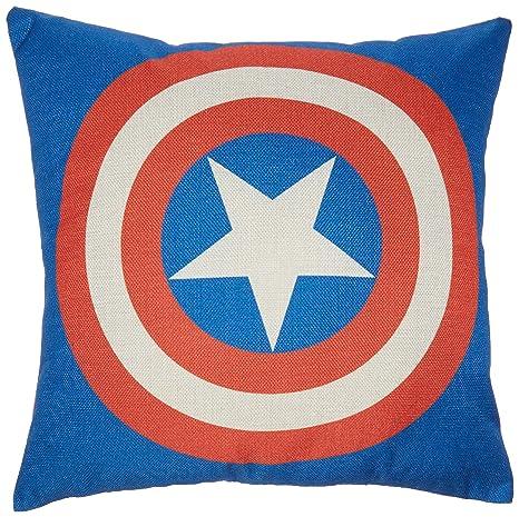 Mary de la casa linterna verde Superman y Batman Capitán América, Iron Man, El flash Funda de almohada manta de algodón y lino funda de almohada ...